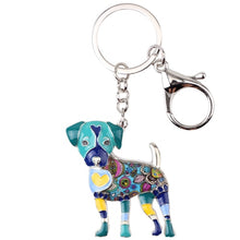 Load image into Gallery viewer, Beautiful Jack Russell Terrier Love Enamel Keychains
