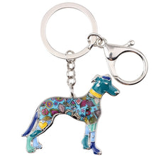 Load image into Gallery viewer, Beautiful Greyhound Love Enamel Keychains