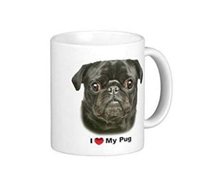 I Love My Black Pug Coffee Mug