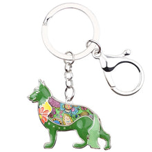 Load image into Gallery viewer, Beautiful German Shepherd Love Enamel Keychains