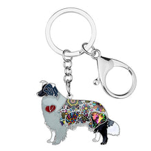 Load image into Gallery viewer, Beautiful Shetland Sheepdog / Rough Collie Love Enamel Keychains