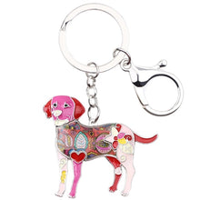Load image into Gallery viewer, Beautiful Labrador Love Enamel Keychains
