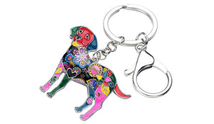 Beautiful Labrador Love Enamel Keychains