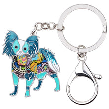 Load image into Gallery viewer, Beautiful Papillon Love Enamel Keychains