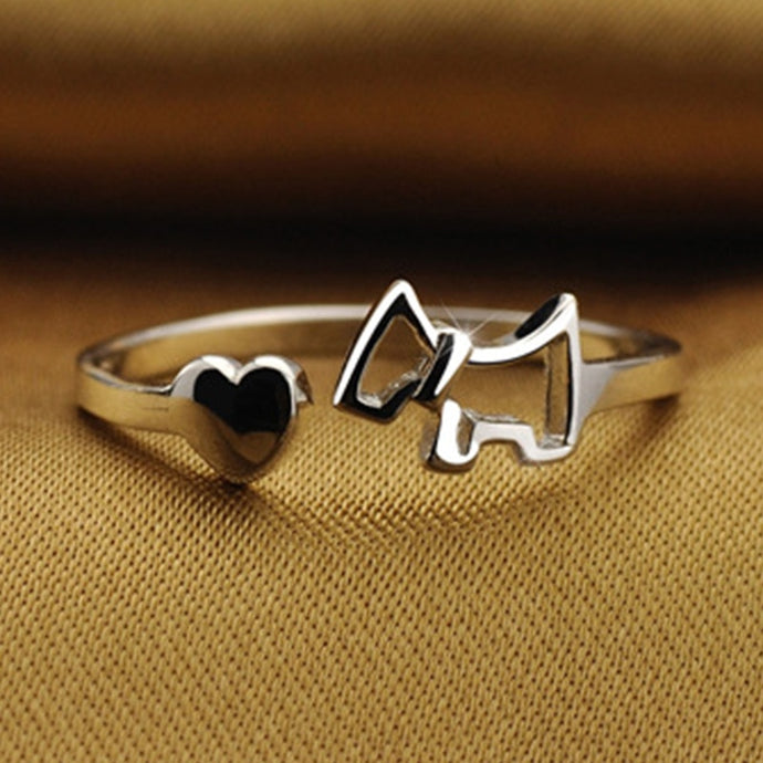 I Love My West Highland Terrier Silver Ring