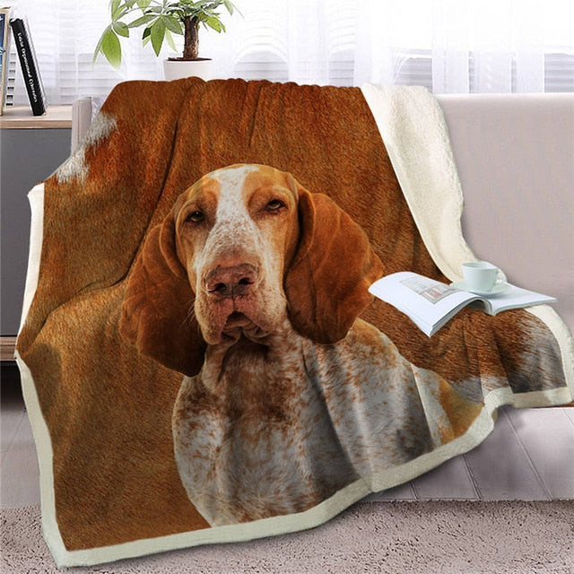 Basset Hound Love Soft Warm Fleece Blanket - Series 5