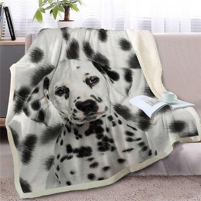 Dalmatian Love Soft Warm Fleece Blanket - Series 5
