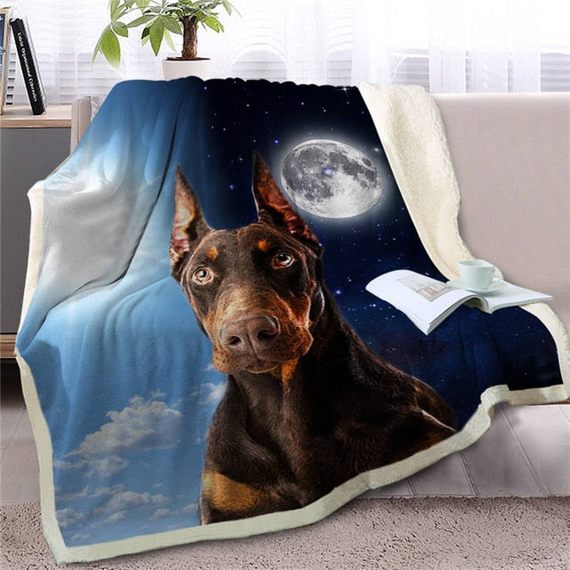 My Sun, My Moon, My Doberman Love Warm Blanket - Series 2