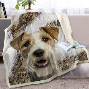 Schnauzer Love Soft Warm Fleece Blanket