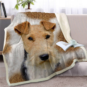 Scotties / Scottish Terrier Love Soft Warm Fleece Blanket