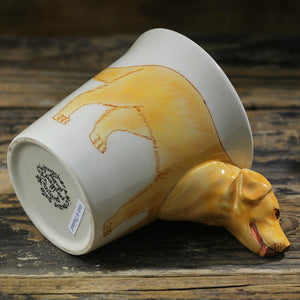 Yellow Labrador Love 3D Ceramic Cup