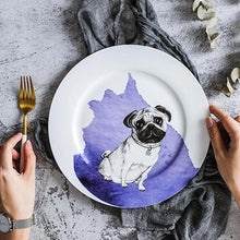 "Load image into Gallery viewer, Pug Love 10"" Bone China Dinner PlatesHome Decor"