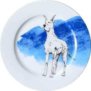 "Pug Love 10"" Bone China Dinner PlatesHome DecorGreat Dane"