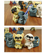 Load image into Gallery viewer, Pug Love Desktop Pen or Pencil Holder FigurineHome Decor