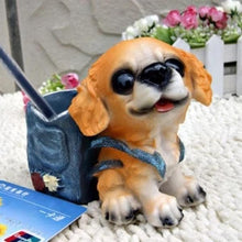 Load image into Gallery viewer, Pug Love Desktop Pen or Pencil Holder FigurineHome DecorBeagle