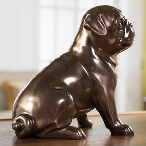Pug Love Home Decor Resin StatueHome DecorSitting