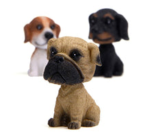 Load image into Gallery viewer, Pug Love Miniature Car BobbleheadCar Accessories