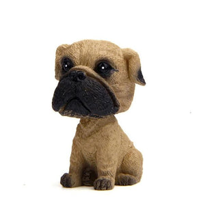 Pug Love Miniature Car BobbleheadCar AccessoriesPug