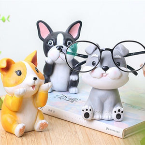 Pug Love Resin Glasses Holder FigurineHome Decor
