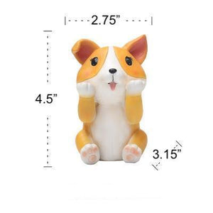 Pug Love Resin Glasses Holder FigurineHome DecorCorgi