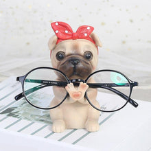 Load image into Gallery viewer, Pug Love Resin Glasses Holder FigurineHome DecorPug