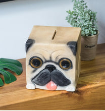 Load image into Gallery viewer, Pug Love Square Shaped Piggy Bank StatueHome Decor
