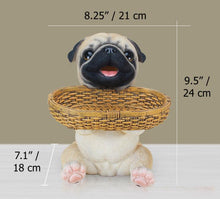 Load image into Gallery viewer, Pug Love Tabletop Organiser & Piggy Bank StatueHome Decor