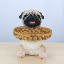 Load image into Gallery viewer, Pug Love Tabletop Organiser & Piggy Bank StatueHome DecorPug