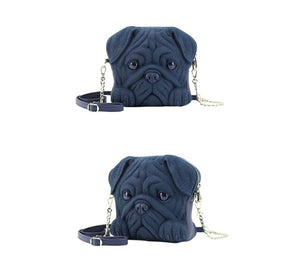 Pug Shaped 3D Sling HandbagBag