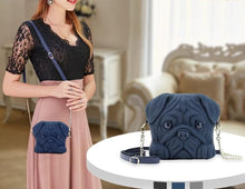 Load image into Gallery viewer, Pug Shaped 3D Sling HandbagBag