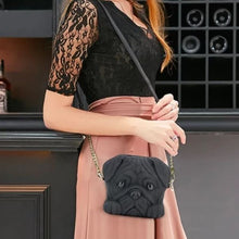 Load image into Gallery viewer, Pug Shaped 3D Sling HandbagBagBlackOne Size