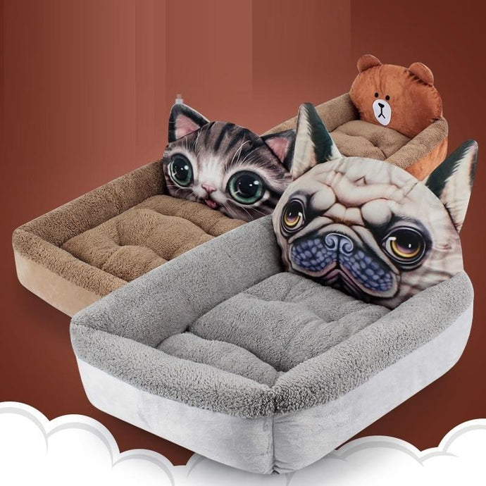 Pug Themed Pet BedHome Decor