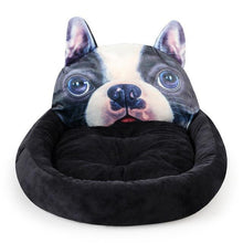 Load image into Gallery viewer, Pug Themed Pet BedHome DecorBoston Terrier / French BulldogSmall