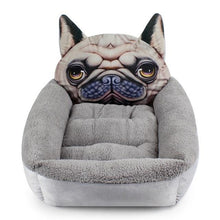 Load image into Gallery viewer, Pug Themed Pet BedHome DecorPugSmall