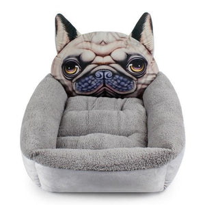 Pug Themed Pet BedHome DecorPugSmall