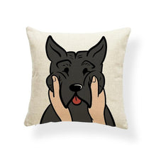 Load image into Gallery viewer, Pull My Cheeks Basset Hound Cushion CoverCushion CoverOne SizeAmerican Pit bull Terrier