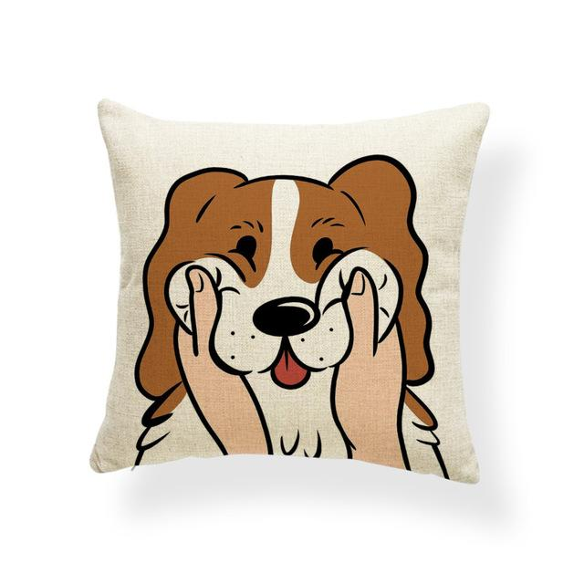 Pull My Cheeks Basset Hound Cushion CoverCushion CoverOne SizeBasset Hound