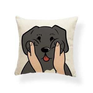 Pull My Cheeks Basset Hound Cushion CoverCushion CoverOne SizeWeimaraner