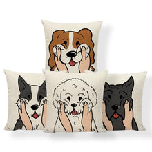 Load image into Gallery viewer, Pull My Cheeks Bichon Frise Cushion CoverCushion Cover