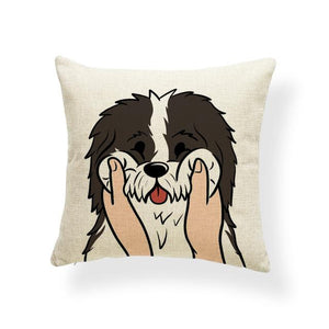 Pull My Cheeks Bichon Frise Cushion CoverCushion CoverOne SizeBorder Collie