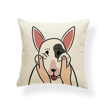 Load image into Gallery viewer, Pull My Cheeks Bichon Frise Cushion CoverCushion CoverOne SizeBull Terrier