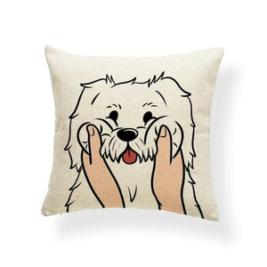 Pull My Cheeks Bichon Frise Cushion CoverCushion CoverOne SizeGreat Pyrenees