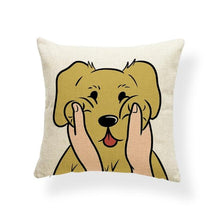 Load image into Gallery viewer, Pull My Cheeks Bichon Frise Cushion CoverCushion CoverOne SizeLabrador / Golden Retriever