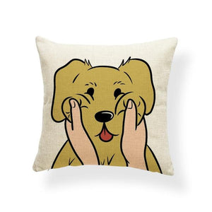 Pull My Cheeks Bichon Frise Cushion CoverCushion CoverOne SizeLabrador / Golden Retriever