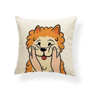 Pull My Cheeks Bichon Frise Cushion CoverCushion CoverOne SizeShiba Inu