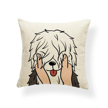 Load image into Gallery viewer, Pull My Cheeks Doggos Cushion CoversCushion CoverOne SizeBearded Collie