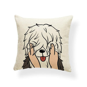 Pull My Cheeks Doggos Cushion CoversCushion CoverOne SizeBearded Collie