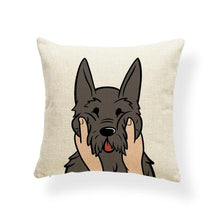 Load image into Gallery viewer, Pull My Cheeks Doggos Cushion CoversCushion CoverOne SizeSchnauzer