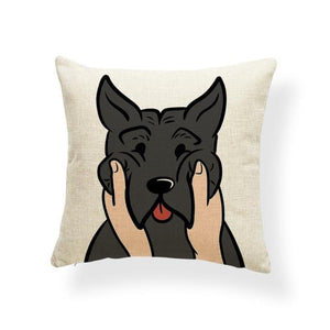 Pull My Cheeks Shiba Inu Cushion CoverCushion CoverOne SizeAmerican Pit bull Terrier