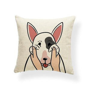 Pull My Cheeks Shiba Inu Cushion CoverCushion CoverOne SizeBull Terrier